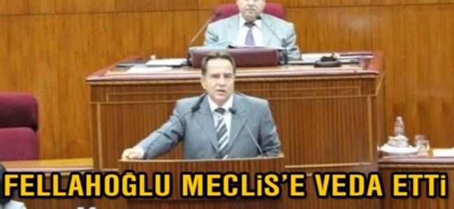 Fellahoğlu Meclis`e veda etti