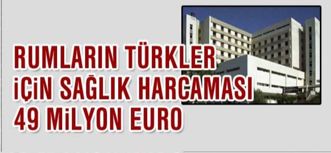 Güney Kıbrıs'ın Türkler için sağlık harcaması