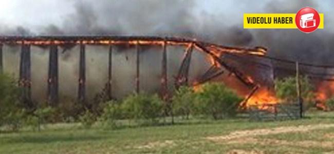 103 Senelik Köprü Kibrit Gibi Yandı