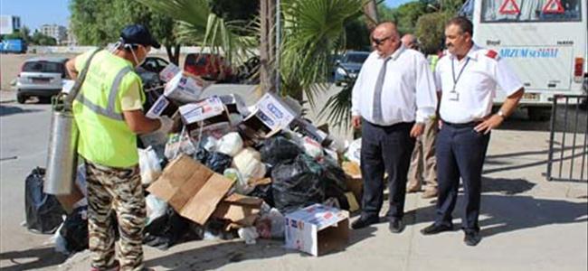 Çöpler toplanıyor