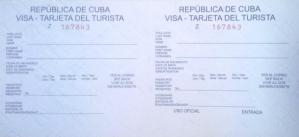 Touristenkarte von Kuba