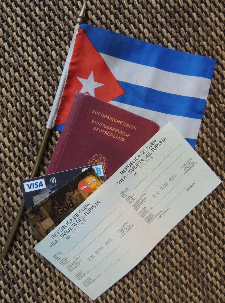 Touristenkarte Kuba Dokumente