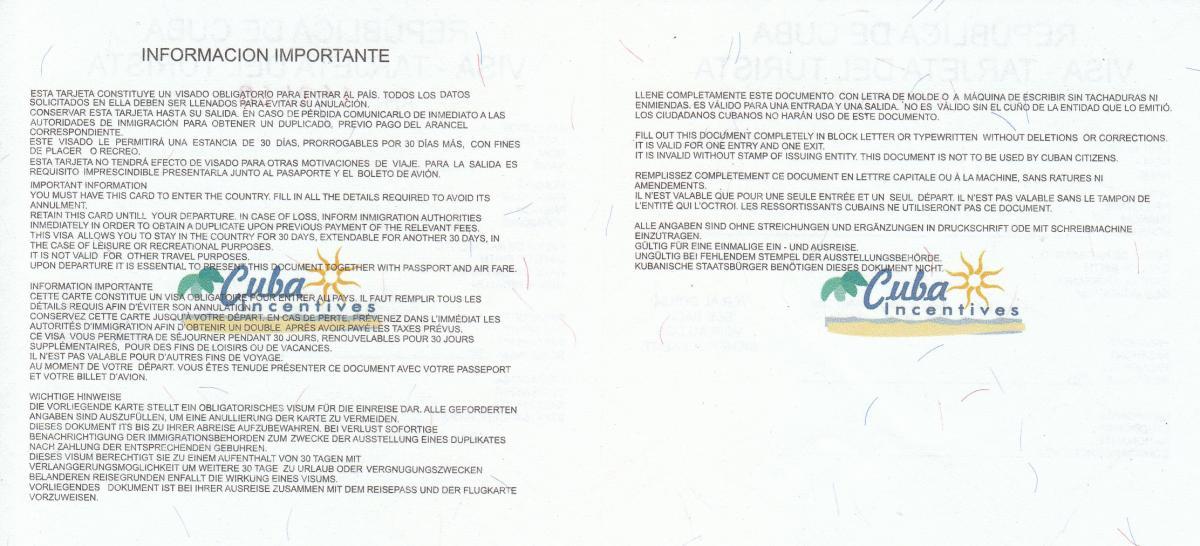 Touristenkarte Kuba Alle Informationen Zum Touristenvisum