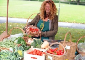 PRODUCE Debbie Bloch and her stall Wayside Organics at Green Fair at Havant Park, Havant. Picture: Allan Hutchings (132519-120)