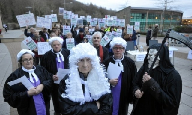 Protests against the Nant Llesg