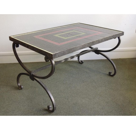belle table basse attribuee a jacques adnet