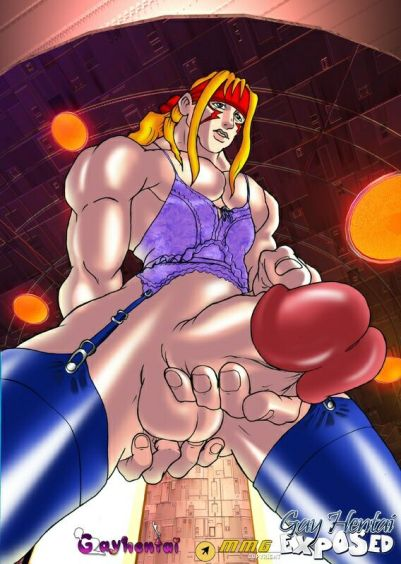 Pigtailed red-haired manga porn homosexual boinking a dude's jaws outdoors