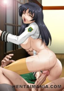 Tempting hentai lesbians in pantyhose fondling their super-sexy bodies with eagerness