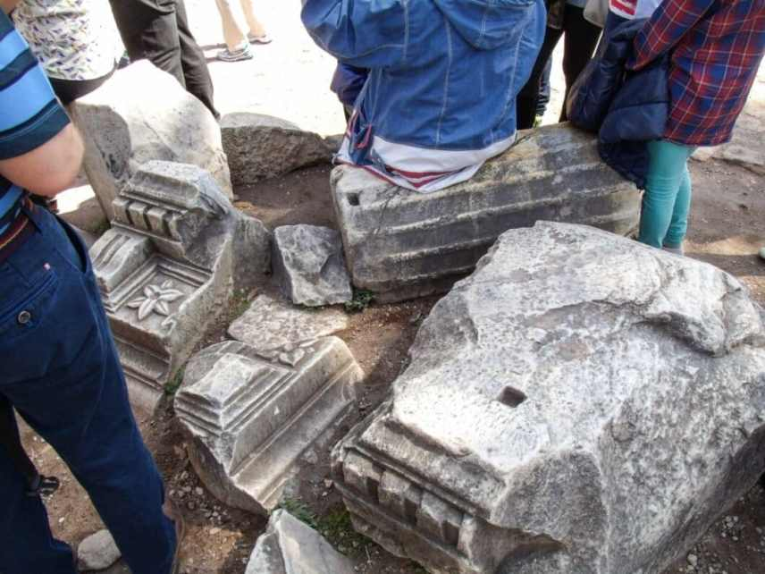 Even the benches in the Roman Forum are ancient ruins!
