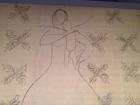 Virgin Mother and Child drawing by Henri Matisse.