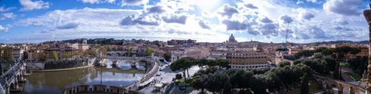 A panoramic view of Rome.