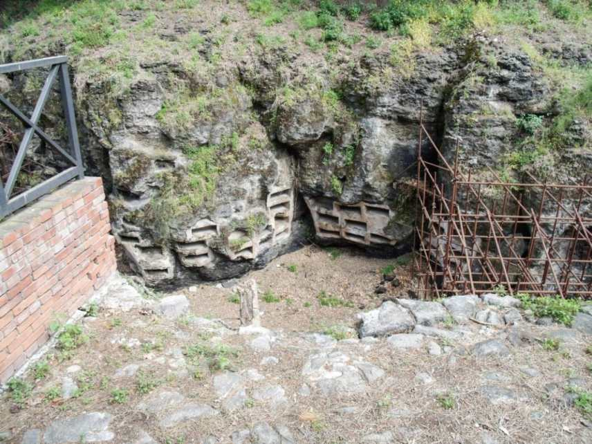 Catacombs that were recently uncovered.