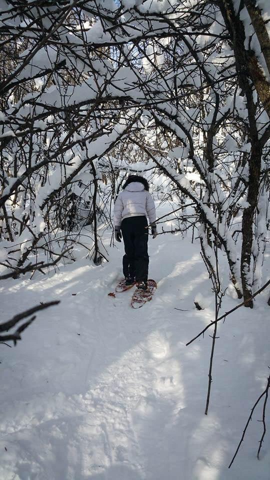 Me snowshoeing