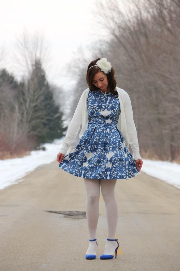 Blue dress 4