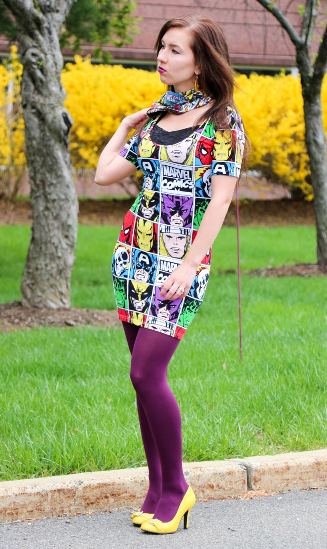 Marvel Comics dress and scarf