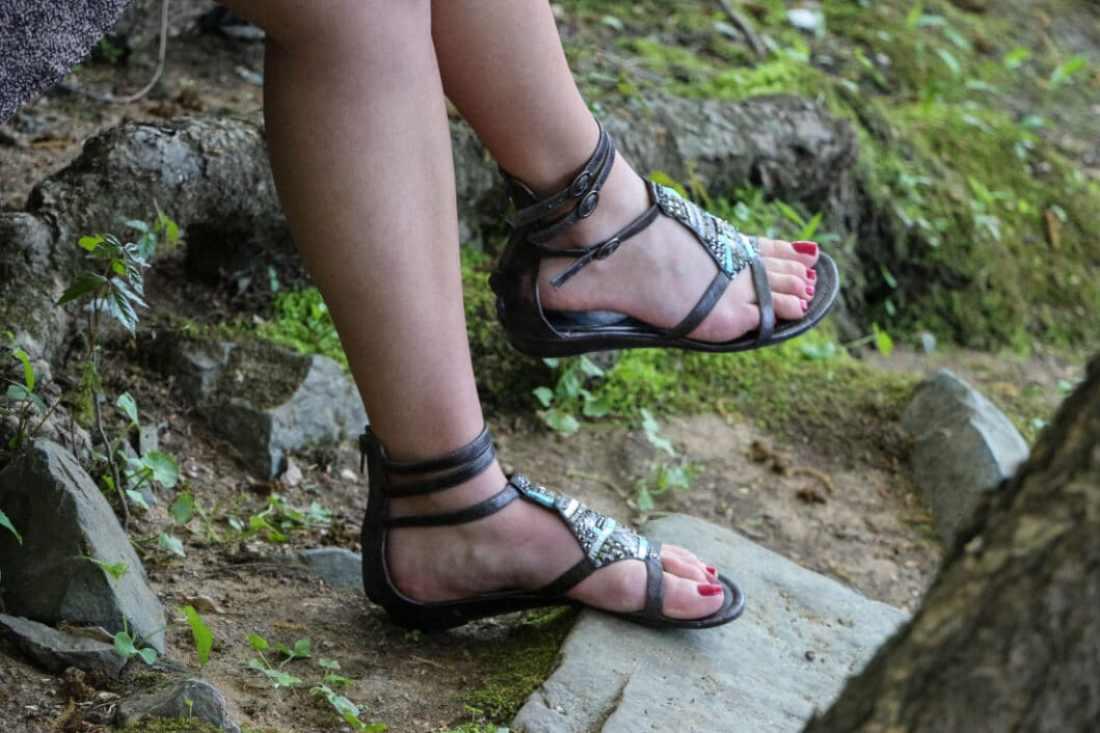 Coconut gladiator sandals