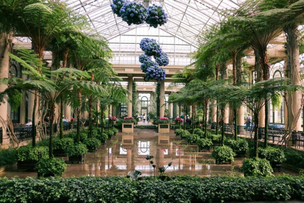 Inside Longwood Gardens Conservatory.