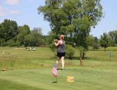 golfers in action