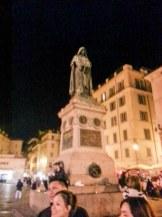 Giodano Bruno, still staring at the Vatican.