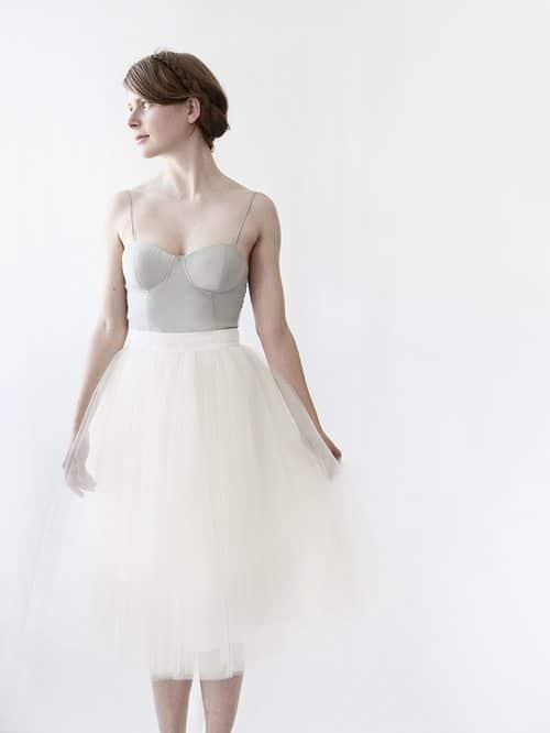 Gretta Tulle Skirt: Alexandra Grecco