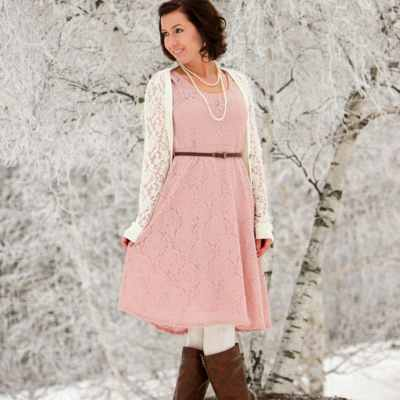 Styling a PinkBlush Dress for a Winter Wonderland