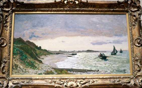 """Claude Monet, """"The Seashore at Sainte-Adresse"""""""