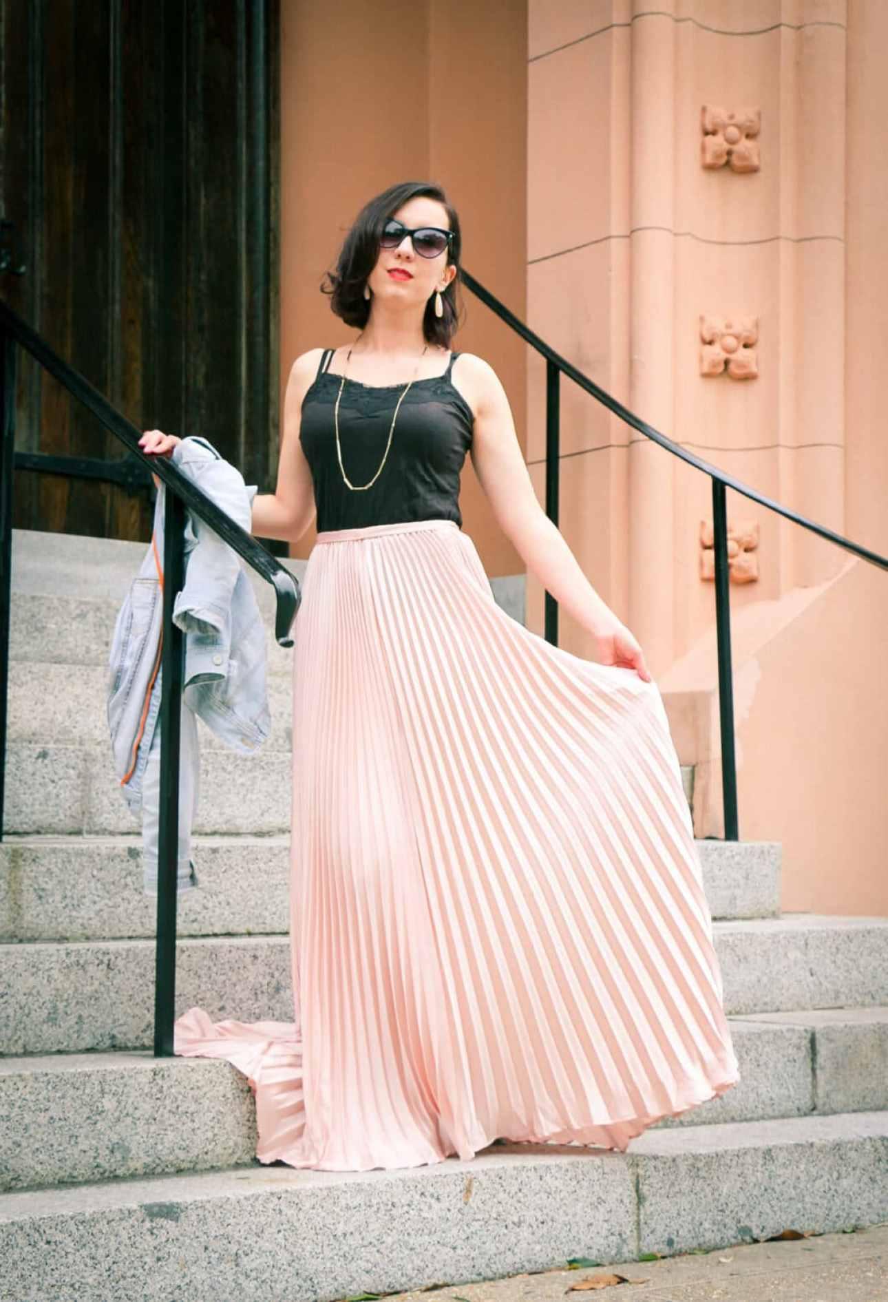 Shein Pleated Maxi Skirt