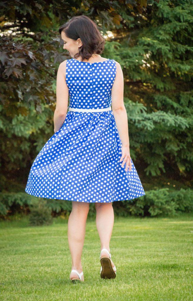 Shein blue polka dot dress