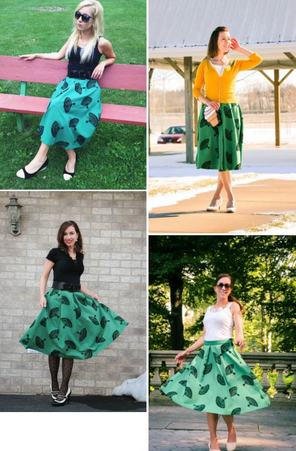 Outfit Remix – 1 Midi Skirt, Styled 4 Different Ways