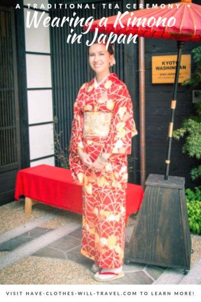 Wearing a Kimono in Japan for a Traditional Tea Ceremony