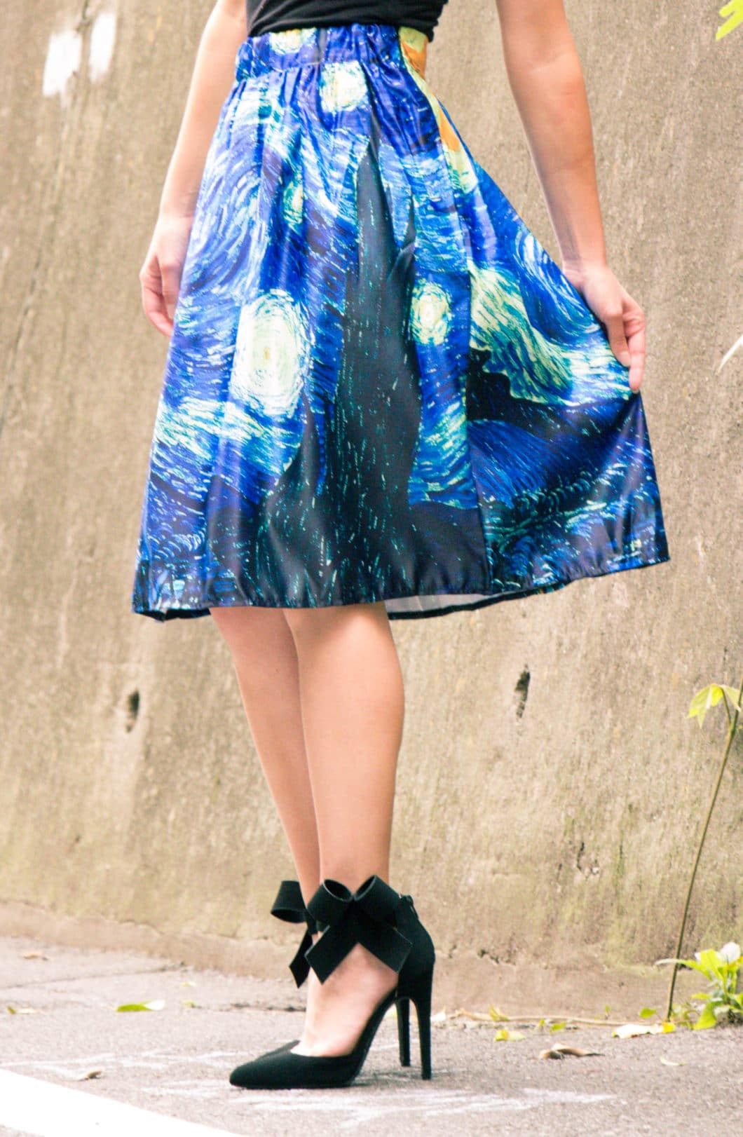 Makemechic The Starry Night midi skirt