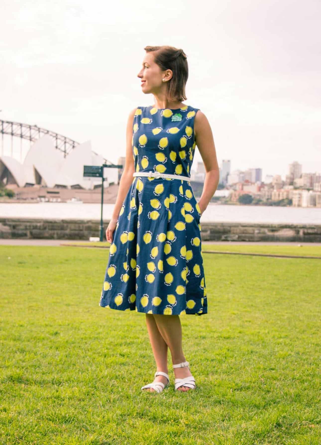 Clema W. lemon dress