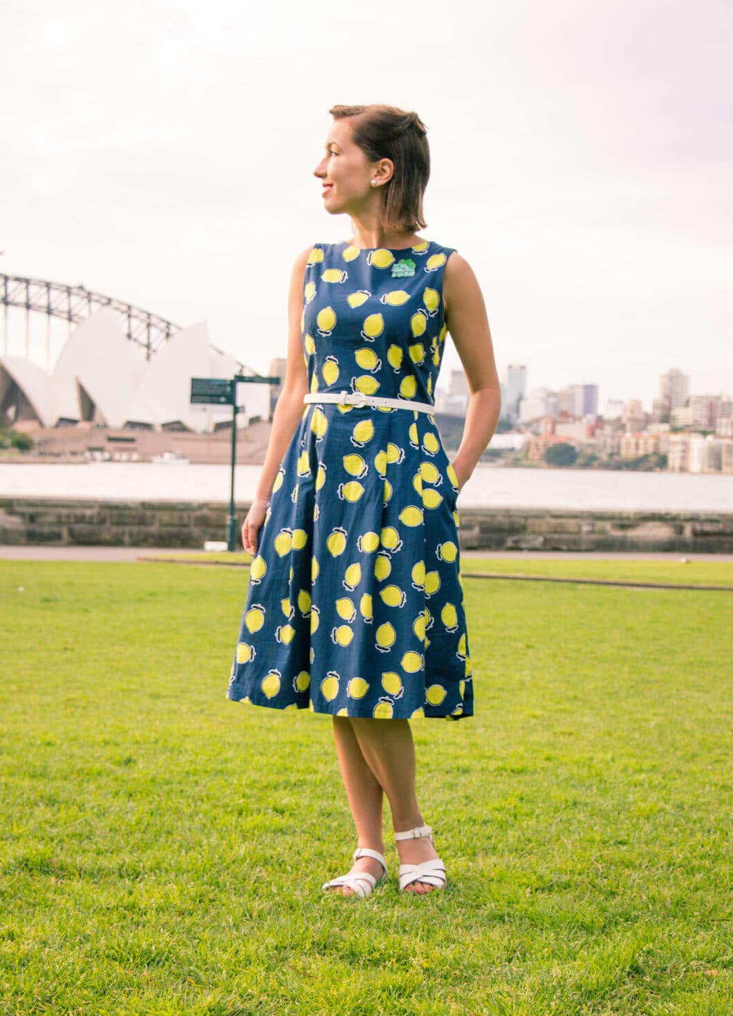 Clema W. lemon dress