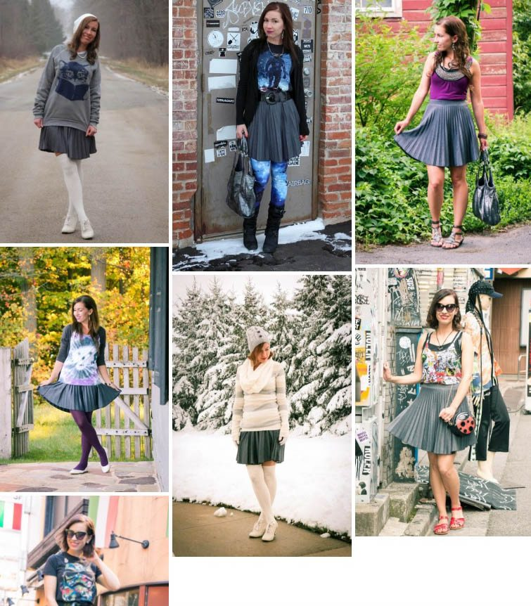 Outfit Remix – 1 Pleated Skirt Styled 7 Ways