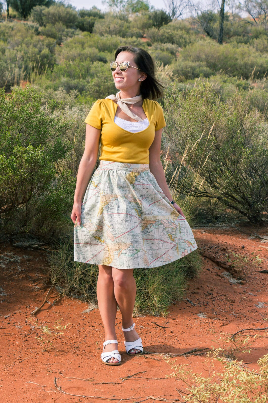 map skirt modcloth