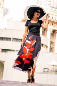 Shein Floral Maxi skirt