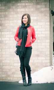Wilsons Red Leather Jacket