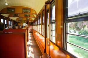 kuranda scenic railway inside the train