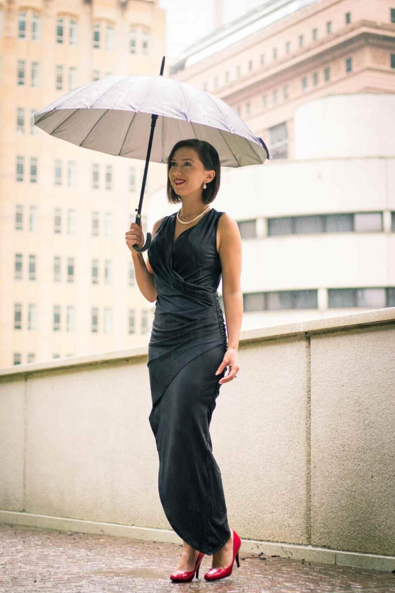Tobi black wrap dress