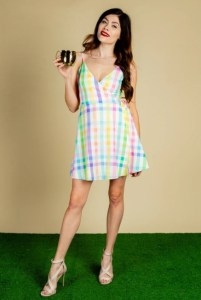 The Savannah Swinger Plaid Strappy Dress