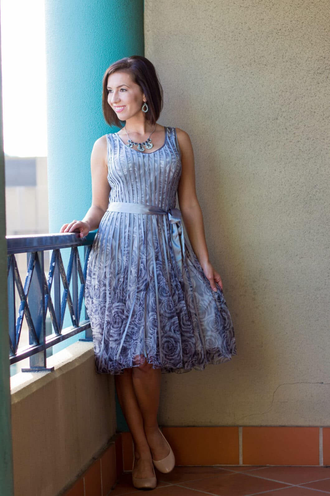 Grey flapper dress