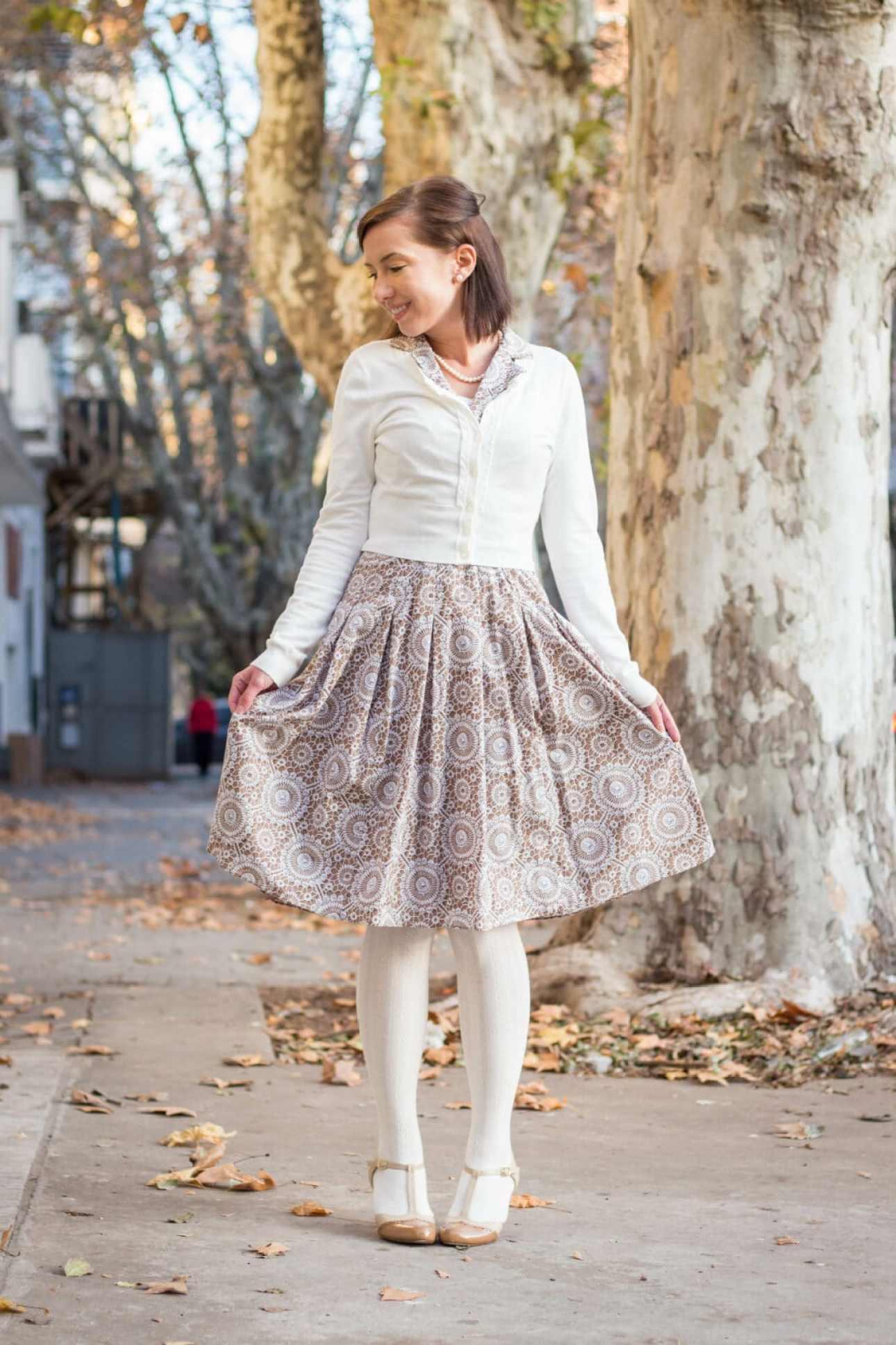 Review Australia cardigan & Evan Picone dress