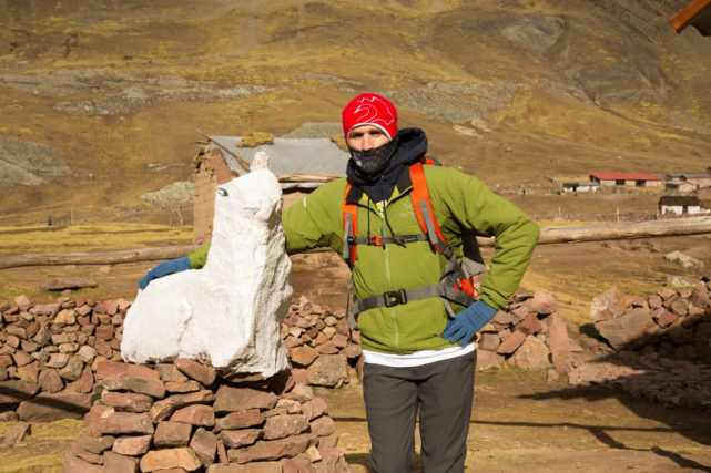 """My husband requested a pic with our 1st """"llama"""" sighting. Haha."""