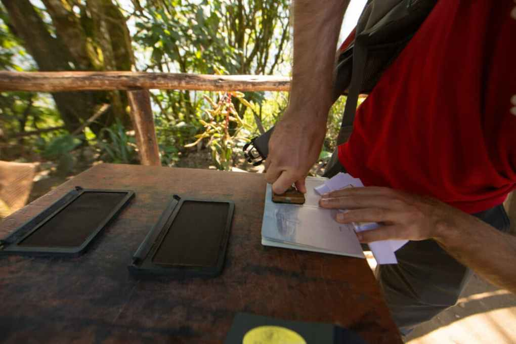 You can get your passport stamped at Machu Picchu!
