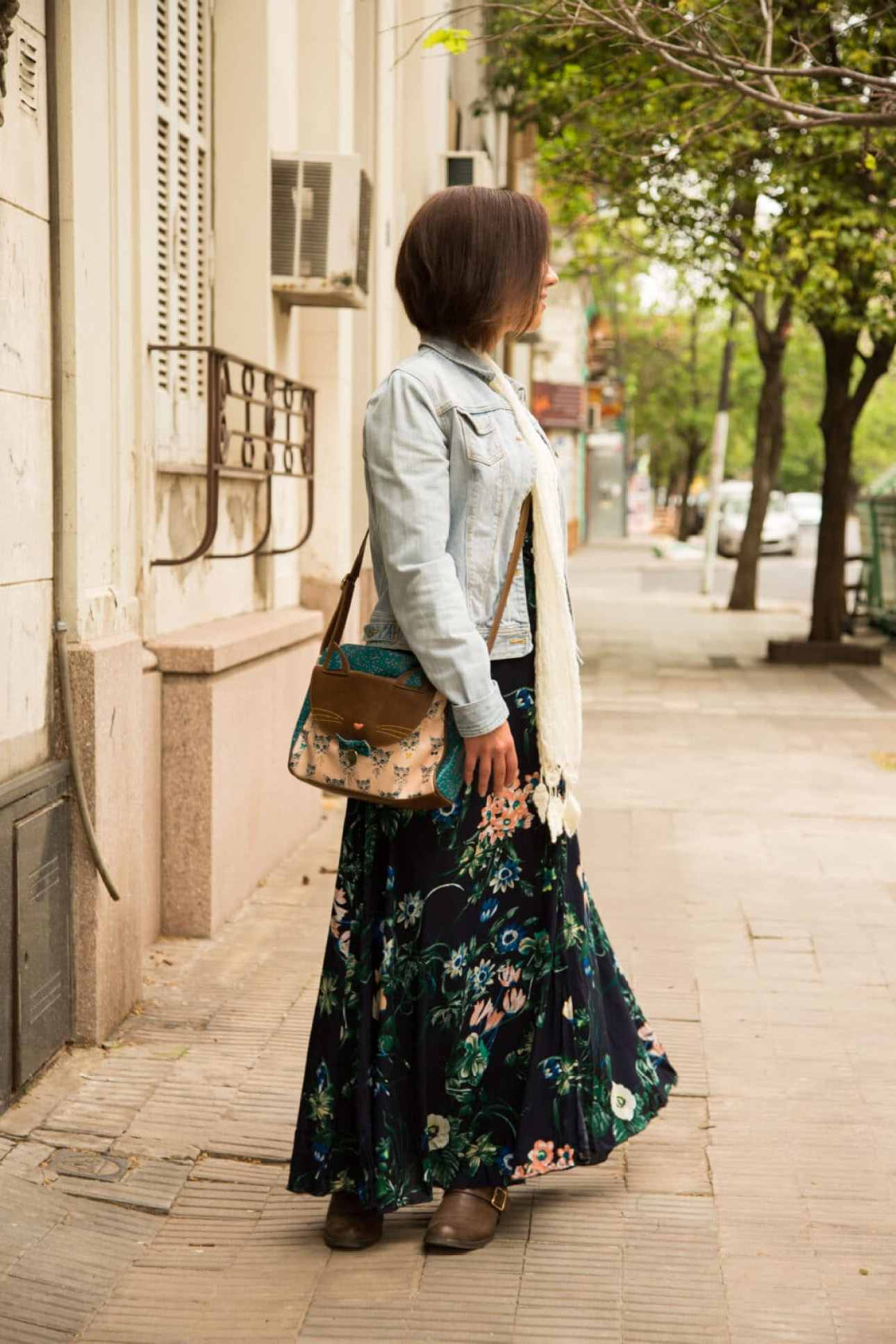 Shein floral maxi dress for fall