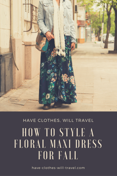 How to style a floral maxi dress for fall