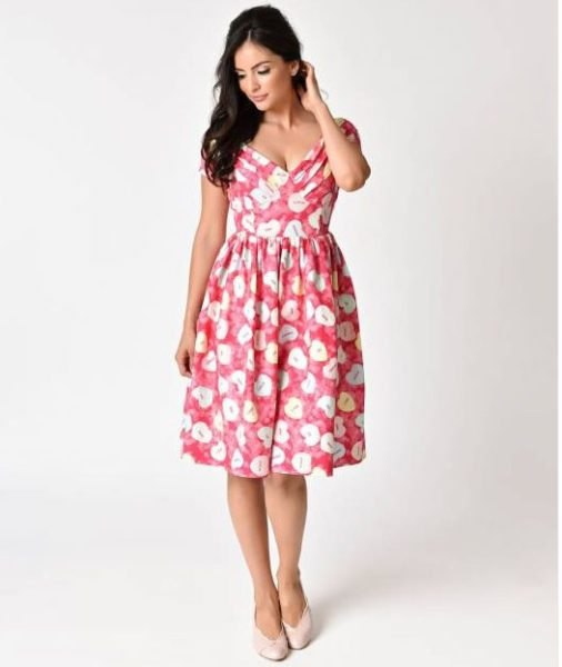 candy heart dress