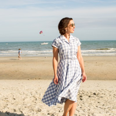 Gingham Shirtdress for the Beach
