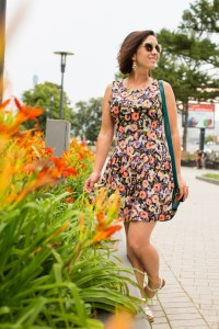 Floral dress for traveling comfortably