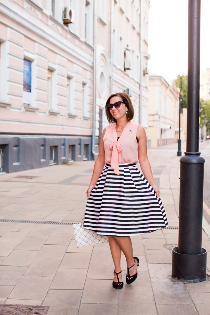 striped midi skirt ModCloth